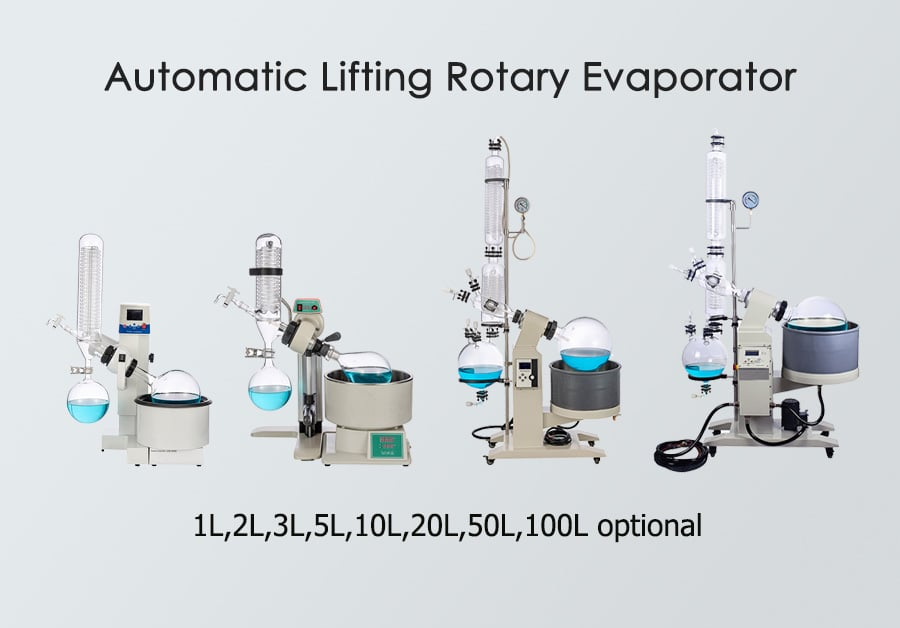 20l rotary evaporator with double condenser and receiving-flasks