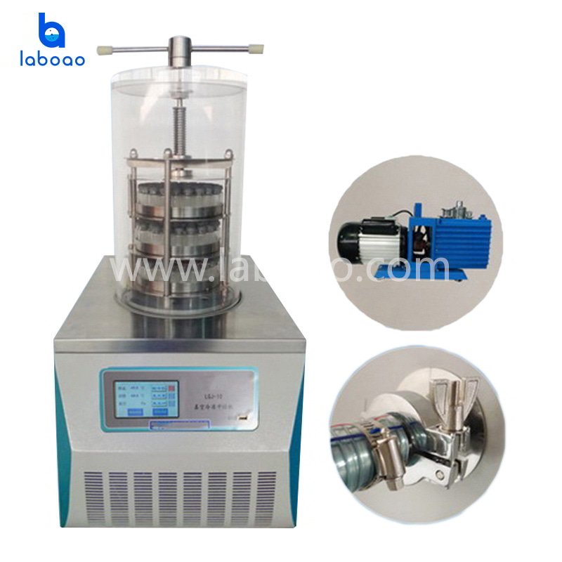 0.08㎡ benchtop top press lab freeze dryer