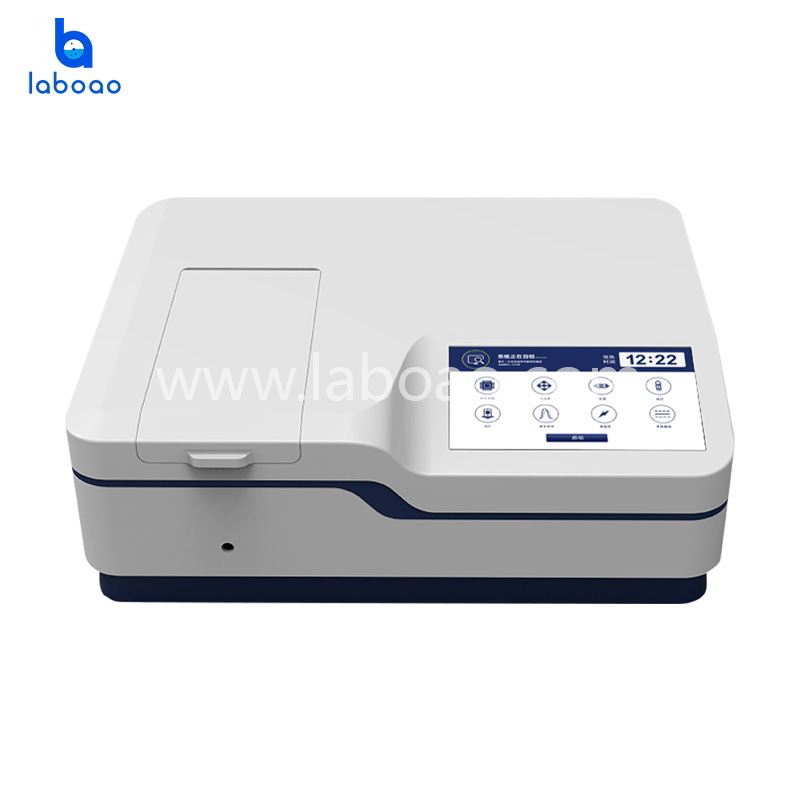 0.1-5nm double beam UV-Vis Spectrophotometer LCD screen