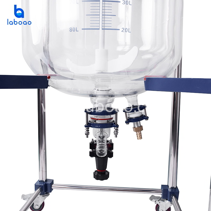 100L jacketed glass reactor