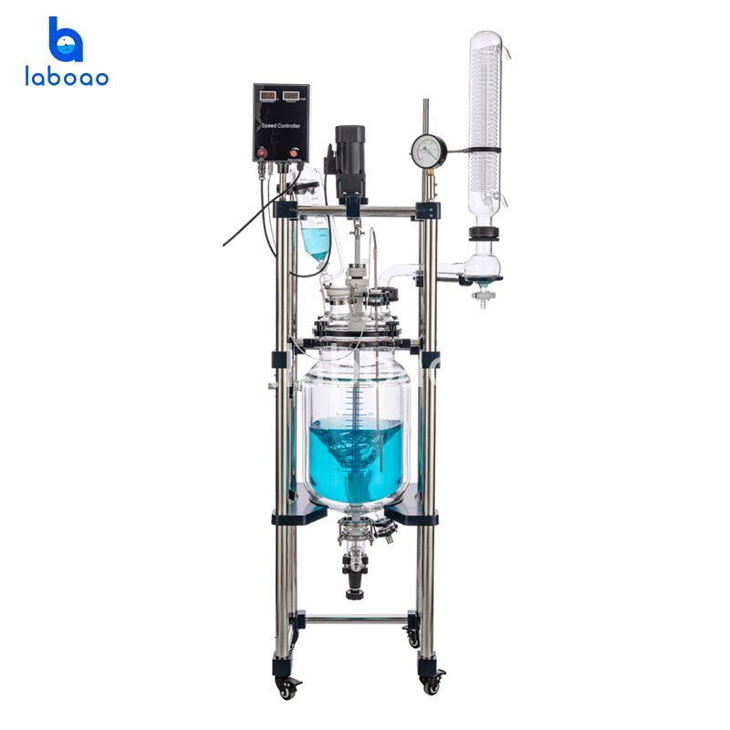 10L jacketed glass reactor