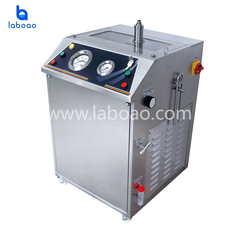 2.1L Low temperature ultra high pressure continuous flow cell crusher