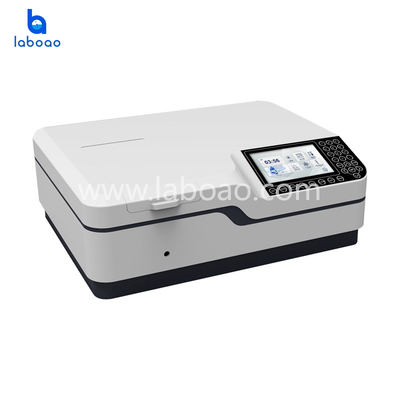 Omron button double beam UV-Vis Spectrophotometer with xenon lamp