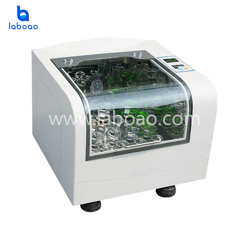 Reciprocating benchtop incubating shaker