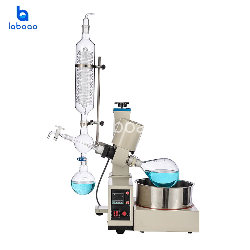 2L rotary evaporator with electric and manual lifting