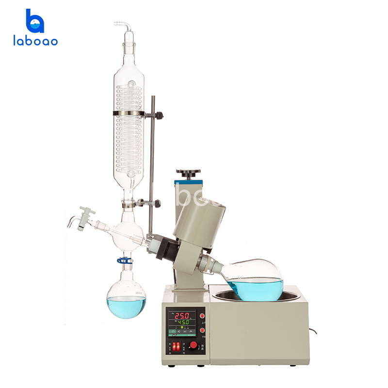 1L rotary evaporator with flask auto lift