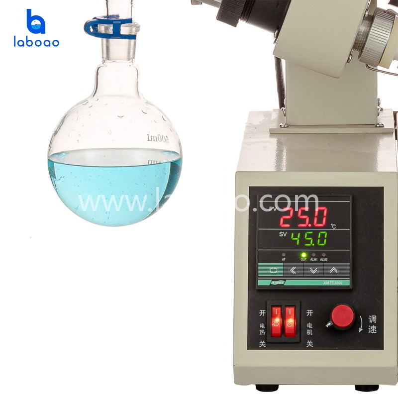 1L rotary evaporator with flask hand lift