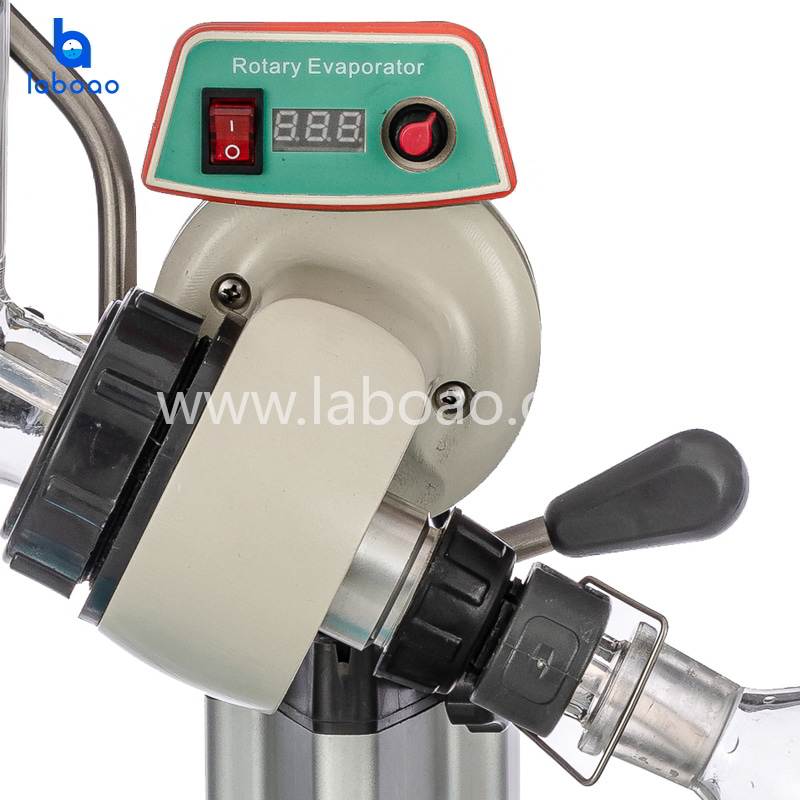 1L rotary evaporator with slide and manual lifting