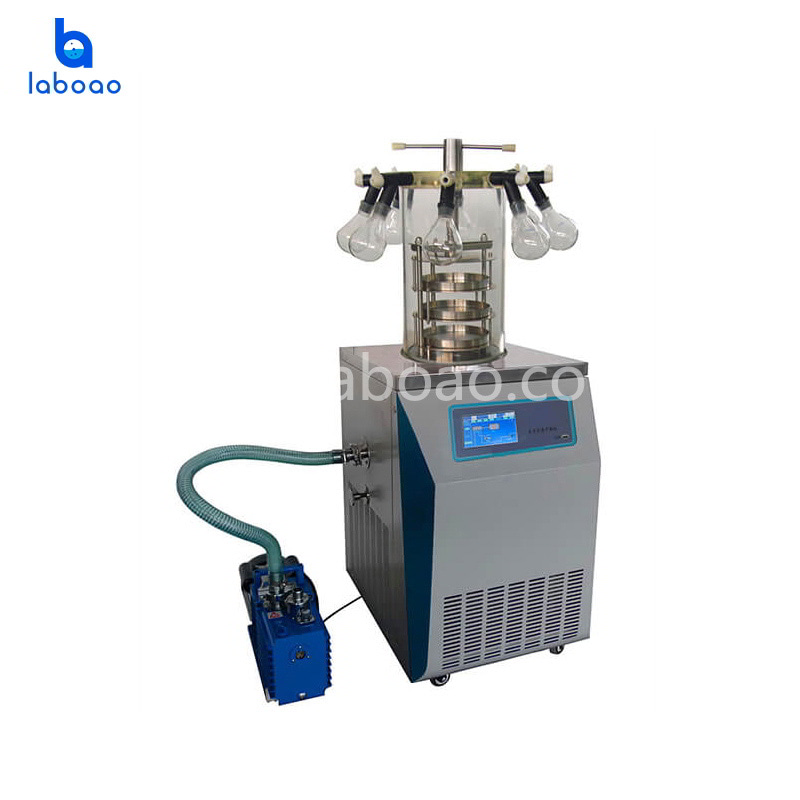 0.08㎡ vertical manifold top press lab freeze dryer