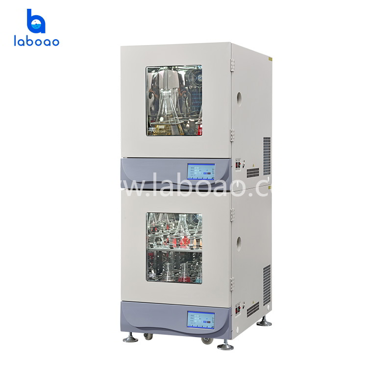Vertical Superimposed lab incubator shaker