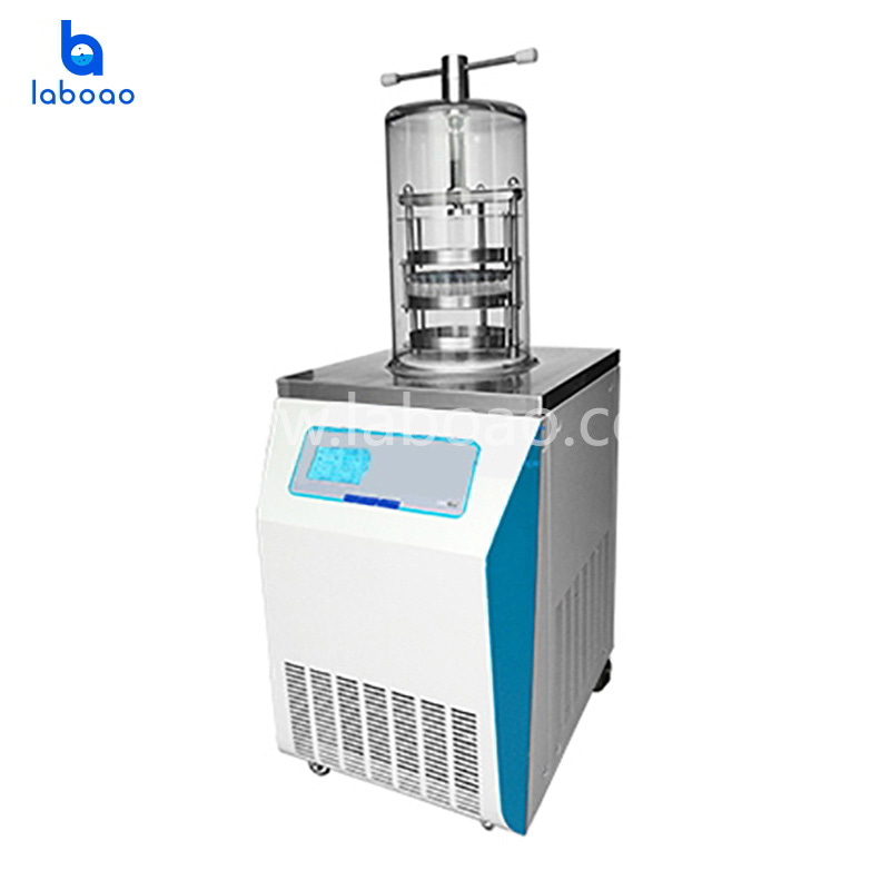 0.08㎡ vertical top press lab freeze dryer