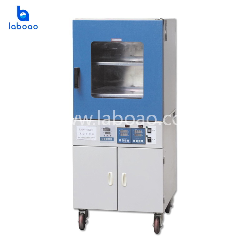 Vertical vacuum drying oven with timing function