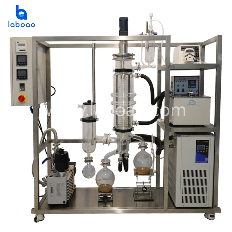 Wiped film molecular distillation equipment for CBD oil
